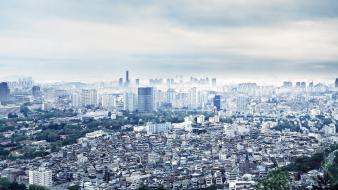 Seoul city skyline cities thomas birke wallpaper