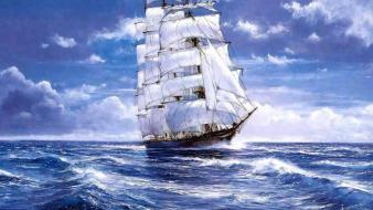 Ships sail ship sailing wallpaper