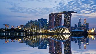 Singapore cities clouds garden landscapes Wallpaper