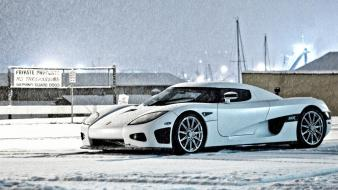 Snow cars koenigsegg ccx wallpaper
