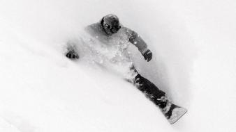 Sports monochrome snowboarding wallpaper