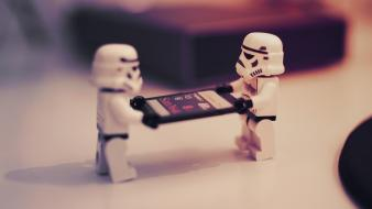 Star wars stormtroopers macro legos wallpaper