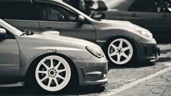 Subaru impreza black and white brembo wallpaper