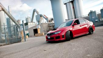 Subaru impreza wrx sti cars red wallpaper