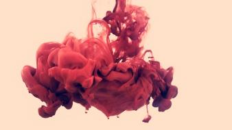 Water red ink wallpaper