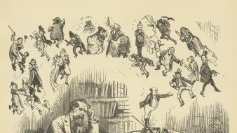 Writers drawings literature charles dickens wallpaper