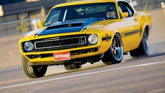 1970 ford mustang hot rod muscle cars yellow wallpaper