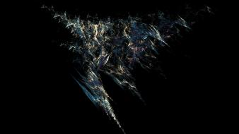 Abstract black background widescreen fractal art wallpaper