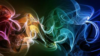 Abstract multicolor smoke rainbows wallpaper