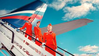 Advertisement airliners aeroflot commercial flight attendants Wallpaper