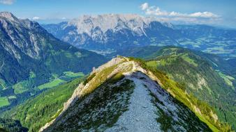 Alps austria mount forests grass wallpaper