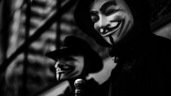 Anonymous legion masks v for vendetta wallpaper