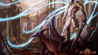 Art armor tyrael artwork diablo iii swords wallpaper