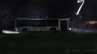 Artwork bus busse night police wallpaper