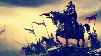 Artwork fantasy art horses knights paintings wallpaper
