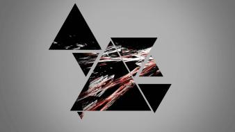 Black red smash photo manipulation triangles wallpaper