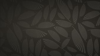 Brown background leaves patterns wallpaper