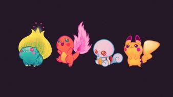 Bulbasaur charmander pokemon squirtle fire Wallpaper