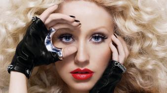 Christina aguilera actress blondes singers songwriter wallpaper