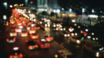 Cityscapes lights blurred wallpaper