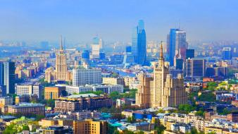 Cityscapes russia moscow cities city center wallpaper