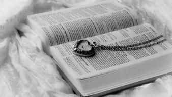 Clocks books monochrome necklaces Wallpaper