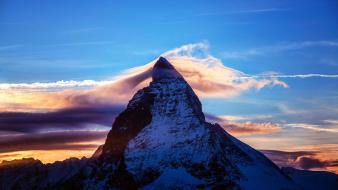 Clouds nature italy switzerland alps matterhorn skies wallpaper