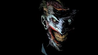 Comics the joker masks smiling black background wallpaper