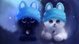 Cute twin cats Wallpaper