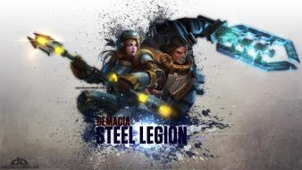 Demacia garen league of legends lux steel legion wallpaper