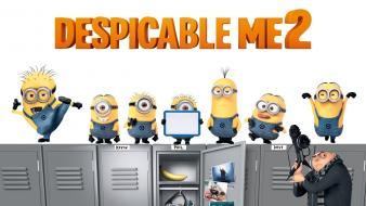 Despicable me 2 lockers minions movies wallpaper