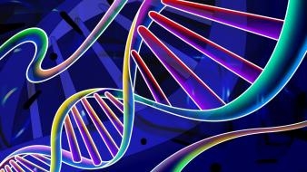 Dna abstract neon wallpaper