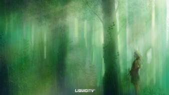 Drum and bass forests liquicity paintings rain wallpaper