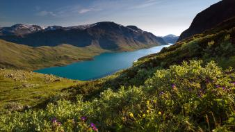 Europe norway hills lakes landscapes Wallpaper