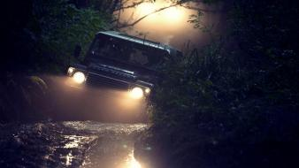 Forest cars land rover vehicles suv defender wallpaper