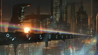 Futuristic fantasy art wallpaper