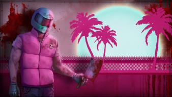 Hotline miami biker wallpaper