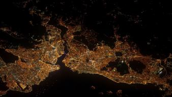 Istanbul turkey cities cityscapes gece wallpaper