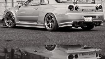 Jdm japanese domestic market auto cars grayscale wallpaper