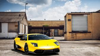 Lamborghini murcielago yellow cars wallpaper