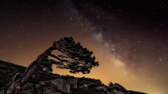 Landscapes nature stars wallpaper