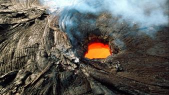 Lava nature scenic volcanoes wallpaper