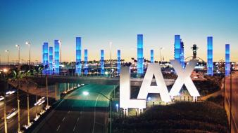 Lax airport sign wallpaper