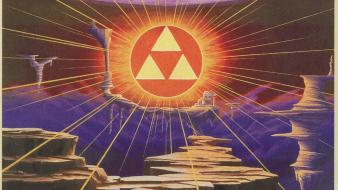 Link to the past triforce video games wallpaper