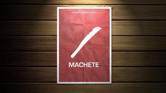 Machete robert rodriguez cover art minimalistic movie posters Wallpaper