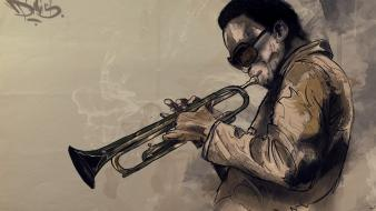 Miles davis abstract jazz music wallpaper