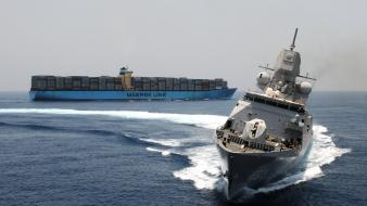 Military ships maersk line container wallpaper
