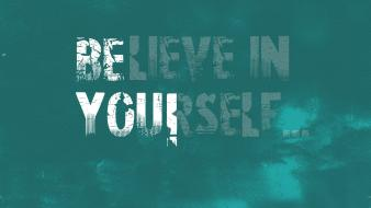 Motivational quotes teal typography wallpaper