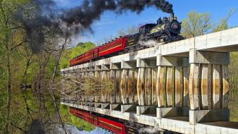 Nature trains bridges Wallpaper