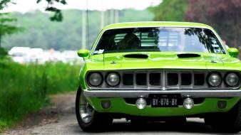 Plymouth hemi cuda cars green Wallpaper